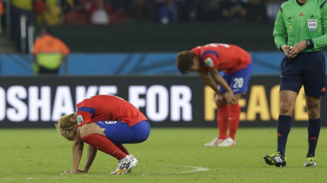 La Corée du Sud a rapidement été éliminé lors du dernier Mondial au Brésil.